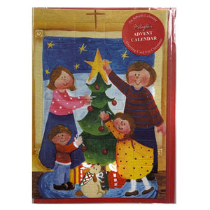 Christmas Tree Advent Calendar Card