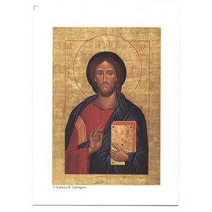 "Christ the Teacher Icon 3""x5"" Print"