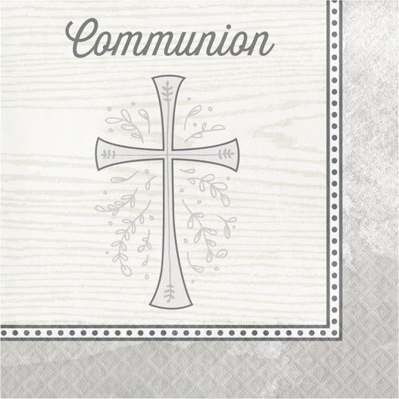 Silver Cross Communion Luncheon Napkins