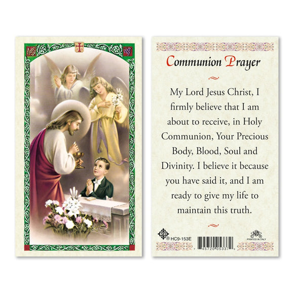 Boy's Communion Prayer Card
