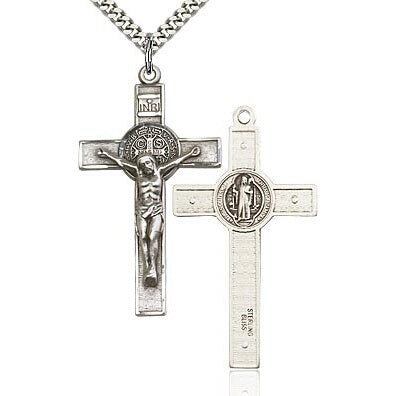 St. Benedict Sterling Silver Crucifix