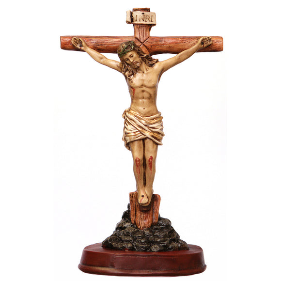 Beautiful Crucifix Mounted on Stand