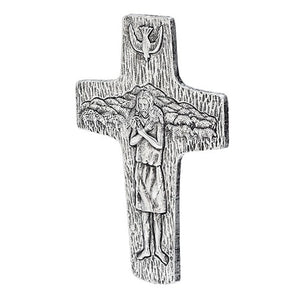 "7.5"" Pectoral Wall Cross Pewter Finish"