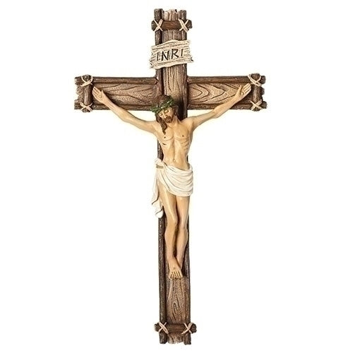 Wood-Style Wall Crucifix