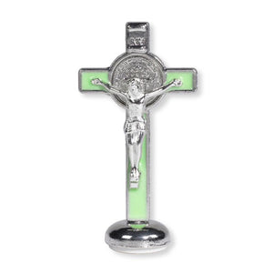 Luminous Saint Benedict Crucifix - 4 Inch