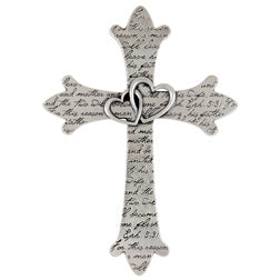 Pewter Wedding Wall Cross