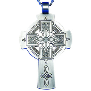 Pewter Celtic Pectoral Cross
