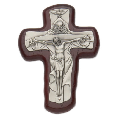 Trinity Crucifix Wood and Pewter