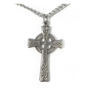 Large Pewter Celtic Cross Necklace