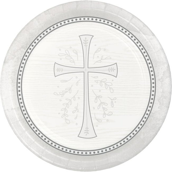 Silver Cross Plates