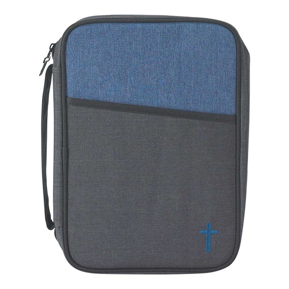 Blue and Gray Thinline Bible Case