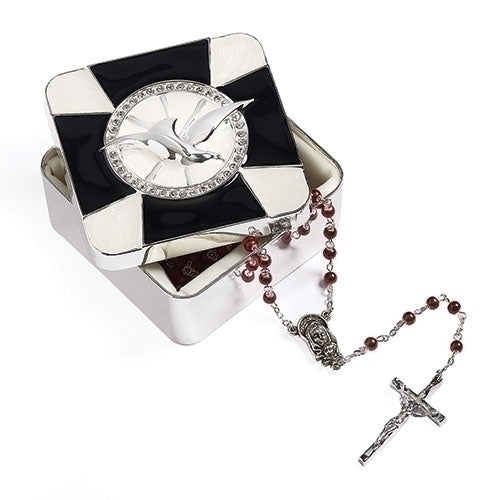 Black Cross Confirmation Keepsake Box