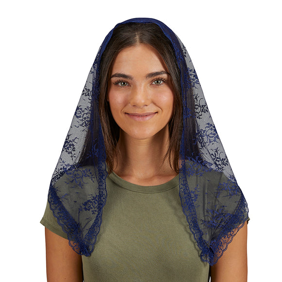 Blue Lace Traditional Chapel Veil