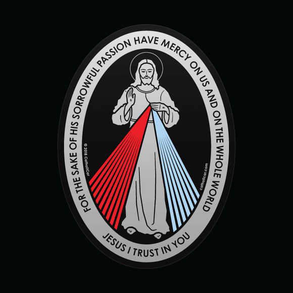 Divine Mercy Car Decal