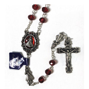 Red Crystal Divine Mercy Rosary