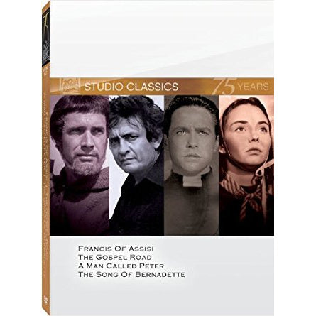 4 Disc Set Francis of Assisi, The Gospel Road, A Man Called Peter, The Song of Bernadette