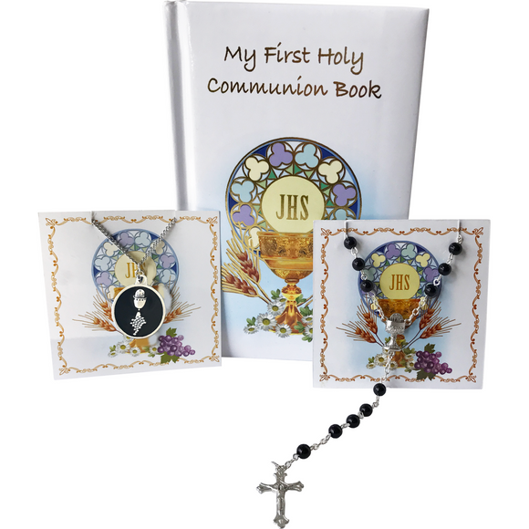 First Communion Boy's 3-Piece Gift Set