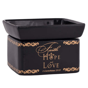Faith, Hope, Love 2-in-1 Candle & Wax Warmer