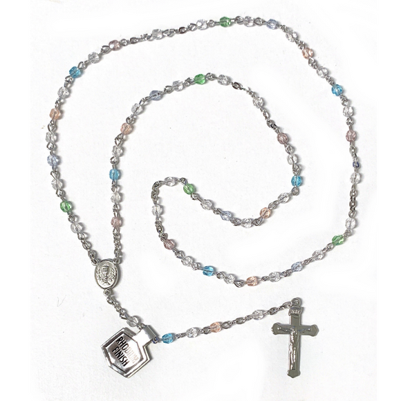 4mm Multi Color Crystal Communion Rosary