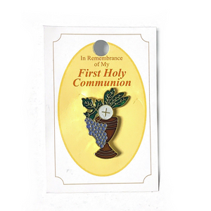 Gold First Communion Chalice Pin