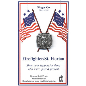 St. Florian Firefighter Lapel Pin