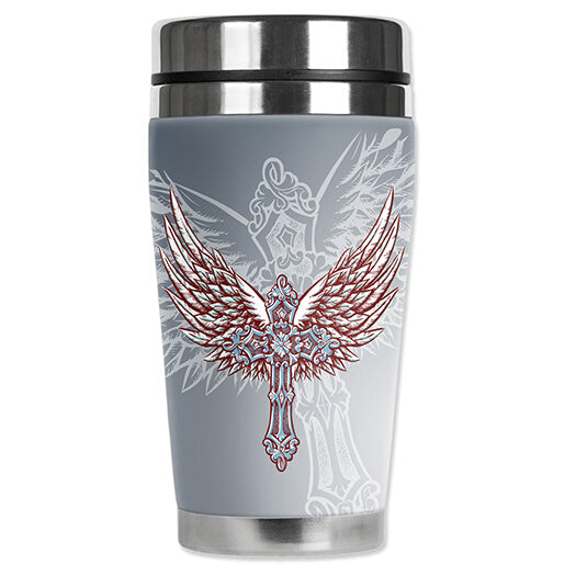 Cross & Wings Travel Mug