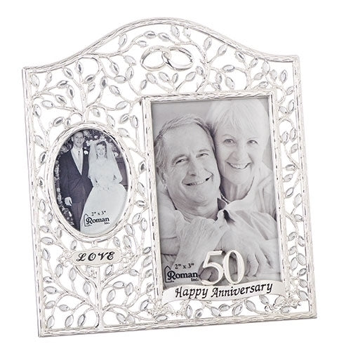 Then and Now 50th Wedding Anniversary Frame