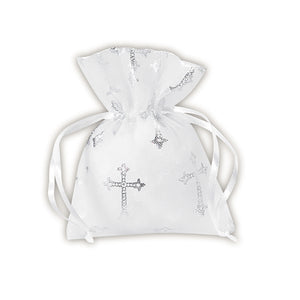 Cross Organza Gift Bag