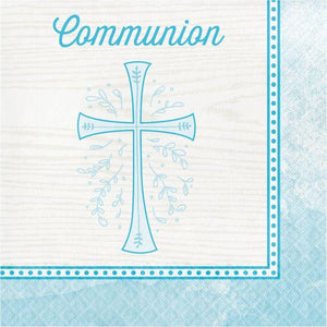 Blue Cross Communion Luncheon Napkins