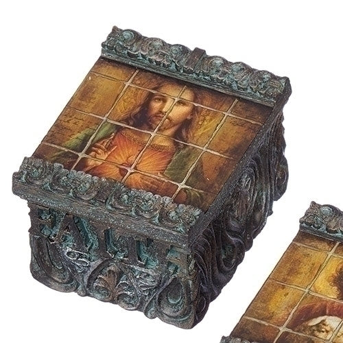 Sacred Heart Tile Keepsake Box