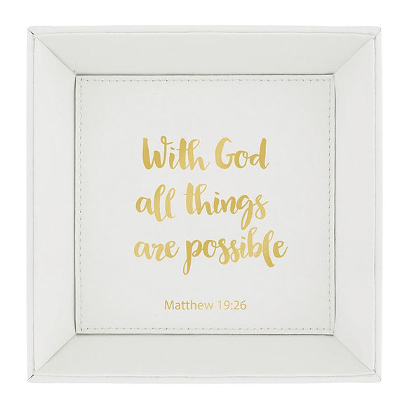 Matthew 19:26 Tabletop Tray