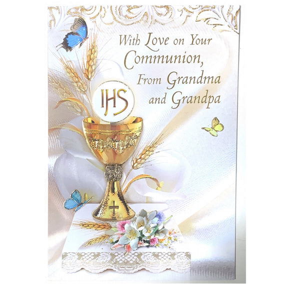 With Love on Your Communion, From Grandma and Grandpa