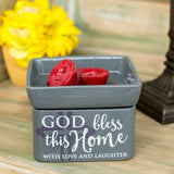 God Bless This Home 2-in-1 Candle & Wax Warmer