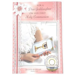 Communion Goddaughter Card