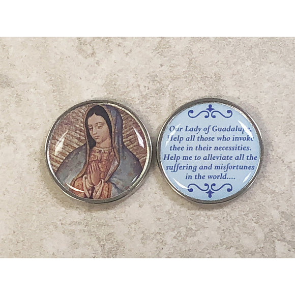 Our Lady of Guadalupe Epoxy Pocket Token