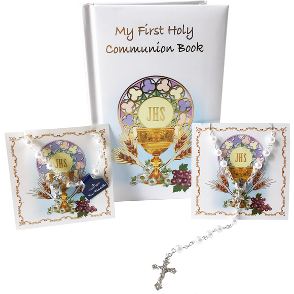 First Communion Girl's 3-Piece Gift Set