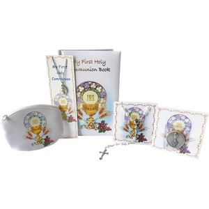 First Communion Girl's 6-Piece Gift Set