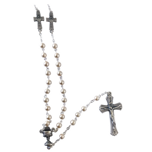 First Communion Imitation Pearl Rosary
