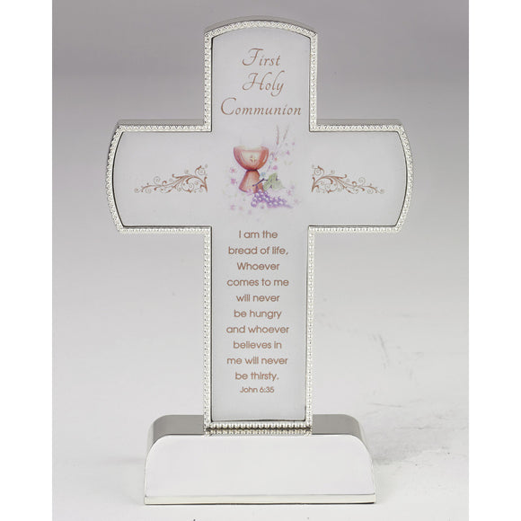 Silver First Holy Communion Cross