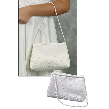 First Communion Beaded Clutch Purse