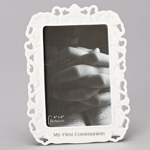Porcelain Lace Communion Frame