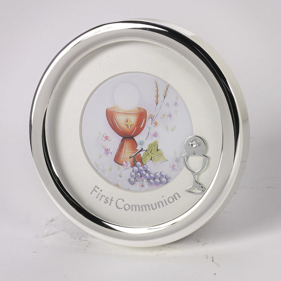 Round First Communion Frame