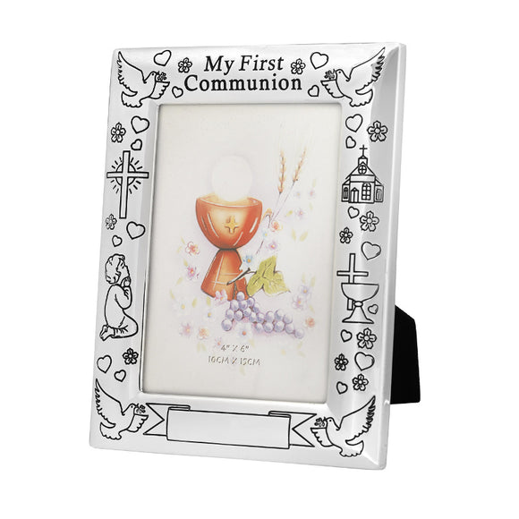 Silver My First Communion Frame