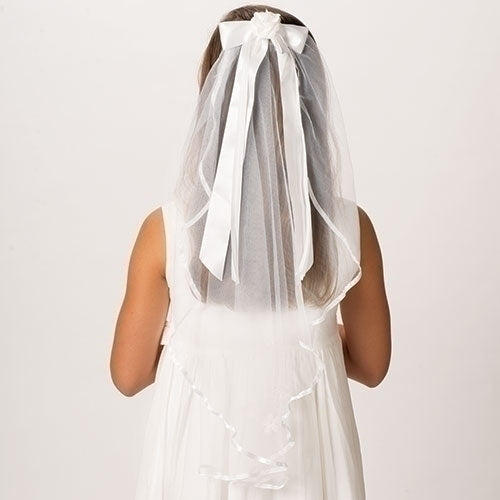 Charlotte Communion Veil w/ Bow