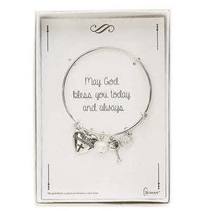First Communion Silver Charm Bracelet
