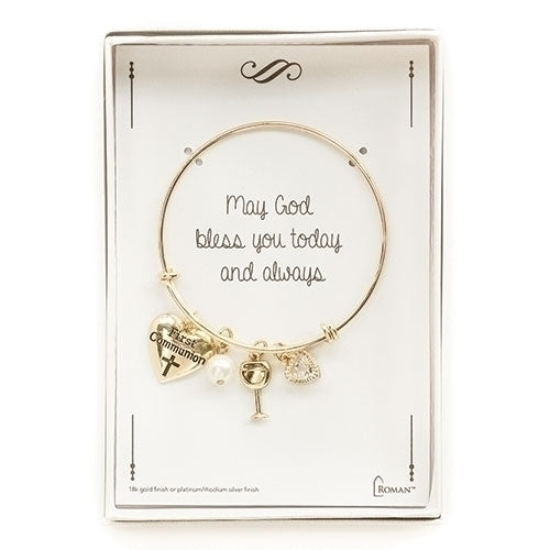 First Communion Gold Charm Bracelet