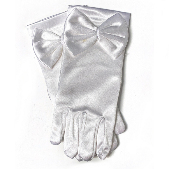 First Communion Bow Gloves