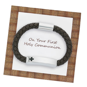 Leather Communion Bracelet