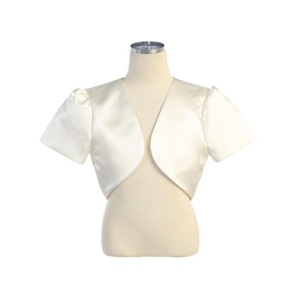 Short-Sleeved Satin Bolero