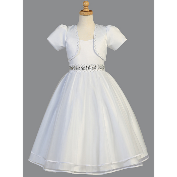 Tulle First Communion Dress with Bolero